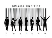 Biz and bar code — Vecteur
