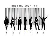 Biz en bar-code — Stockvector