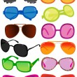 Stock Vector: Vector illustration of different sunglasses