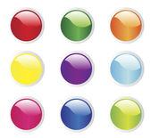 Vektör çizim düğmeleri — Stok Vektör