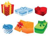 Ilustracja wektorowa o różne pudełka — Wektor stockowy
