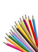 Vector illustration of different color pencils — Stock Vector