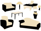 Vectorillustratie van meubilair — Stockvector