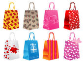 Different shopping bags — Stock Vector