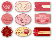 Valentine's day label — Vetorial Stock