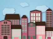 Cartoon city — Stock Vector