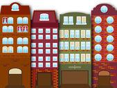 Cartoon stad — Stockvector