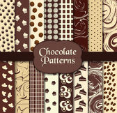 Chocolate patterns — Stock Vector