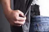 Revealing Firearm — Stock Photo