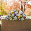 Colorful Tombstone Boquet — Stock Photo