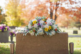 Nagrobek kolorowy boquet — Zdjęcie stockowe