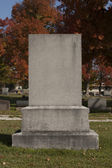 Blank Gravestone — Stock Photo