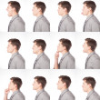 One Dozen Profile Expressions - Stock Photo