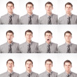 Stock Photo: One Dozen Expressions