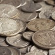 Stock Photo: Old Silver Coins
