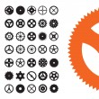 Vector Gears Set - Stock Vector