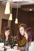 De studie van de Bijbel van de jonge vrouwen — Stockfoto