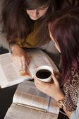Bible Study And Coffee — Stock Photo