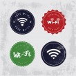 Vector Vintage WiFi Badges — Stock Vector