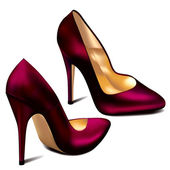 Purple High Heels (vector) — ストックベクタ
