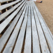 Wooden beach chairs — 图库照片