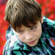 Boy in plaid shirt — Stock Photo