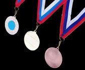 Altın gümüş ve bronz madalyalar yıldız — Stok fotoğraf
