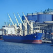 Stock Photo: Vessel under loading