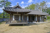 Traditional wood house — 图库照片