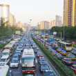 BEIJING  Busy Road Beijing — Stock Photo