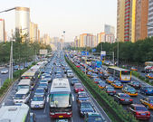 BEIJING Busy Road Beijing — 图库照片