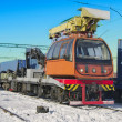 Train crane carriage. - Foto de Stock  
