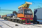 Train crane carriage. — Stockfoto