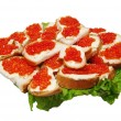 Royalty-Free Stock Photo: Red caviar on a plate