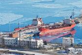 нефтяной терминал — Стоковое фото