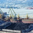 Stok fotoğraf: Port terminal for coal loading