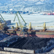Foto de Stock  : Port terminal for coal loading