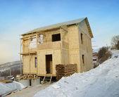 Nowy dom w budowie — Zdjęcie stockowe