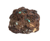 Chrysocolla, limonite — Stock Photo