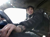 Teenager driving — Stock Photo