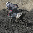 Foto de Stock  : Motocross bike in race
