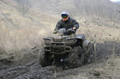 Atv racing — Stock Photo