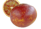 Blood red orange slice — Stock Photo