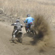 Motocross bike in a race — Photo