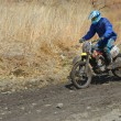 Motocross bike in a race — Stock Photo