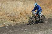 Motocross bike in a race — Stock Photo