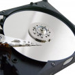 Stock Photo: Open hard drive isolated on white ackground