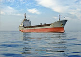 Cargo ship at sea — Stock Photo