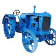 Stock Photo: Old blue vintage tractor
