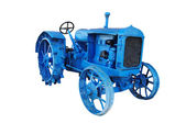 Old blue vintage tractor — Stock Photo
